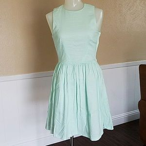 Backless Mint Green Dress